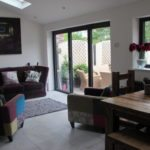 Inside Shot of Bifold Doors Completed Installation 2
