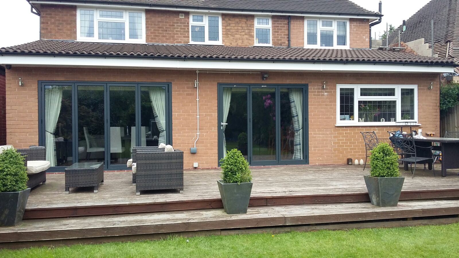 Outside Shot of Completed Bifold Doors Installation