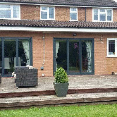 Dual Bifold Doors with Decking Area 2