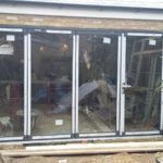 Completed Bifold Doors House Extension Zoomed In
