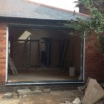 Bifold Doors Prior to Installation